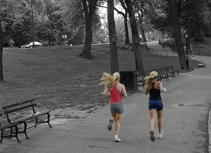 Women running fitness active