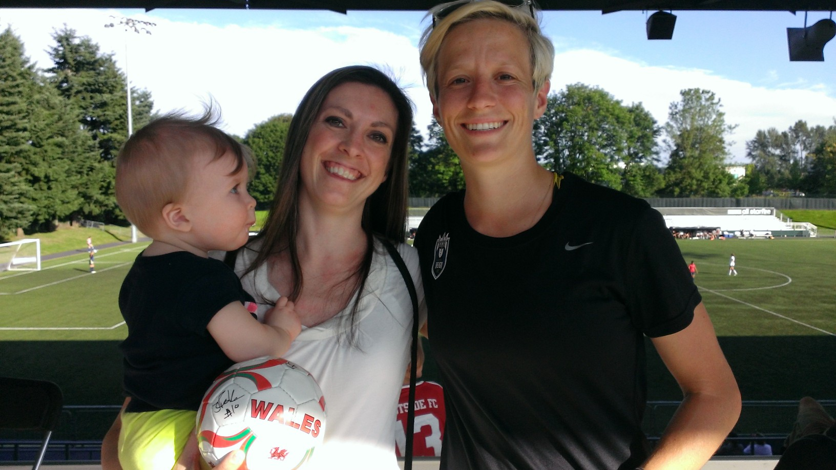 You never know who will inspire your kids! USWNT star Megan Rapinoe.