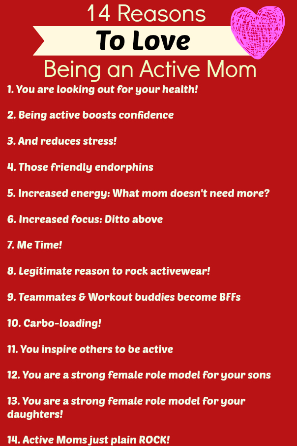 Active Fit Women Mom Reasons