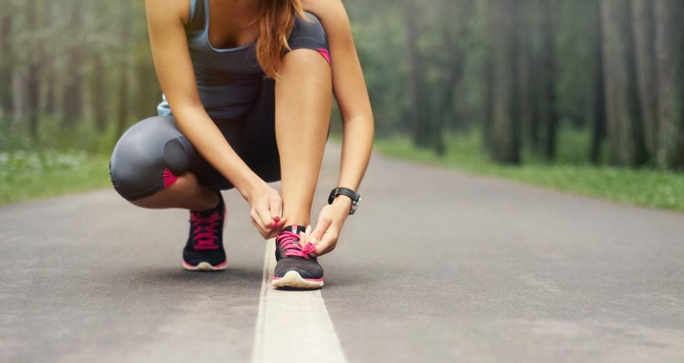 Woman Running Beginning Active Fitness