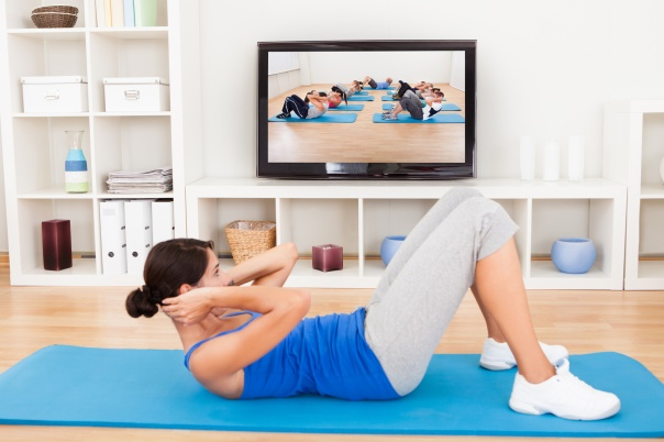Woman Beginning Exercise Active Fitness DVD Home
