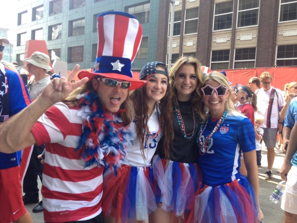 US Women's National Soccer Team Fans World Cup Final Vancouver