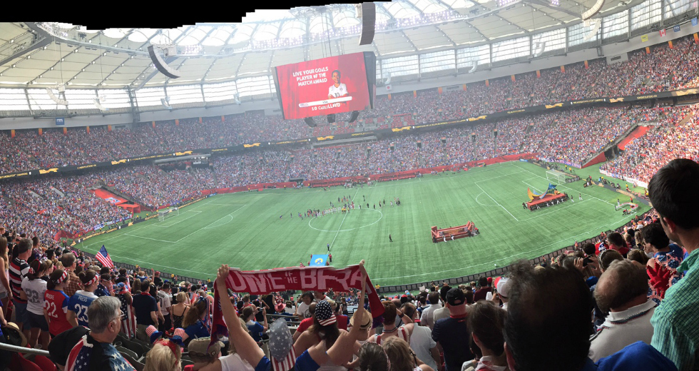 2015 FIFA Womens World Cup Soccer Final Vancouver BC Place