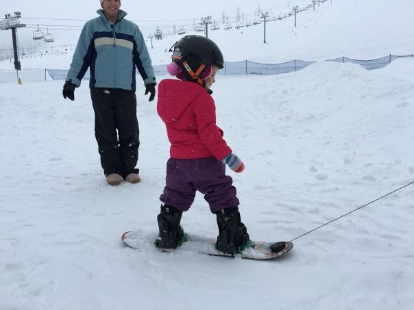 Snowboarding Burton Riglet Park