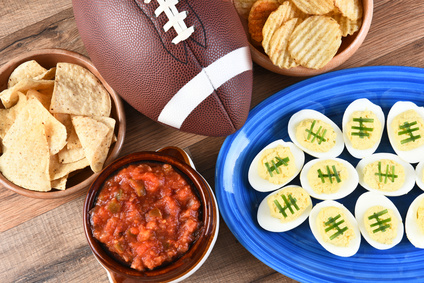 Super Bowl Football Party snacks