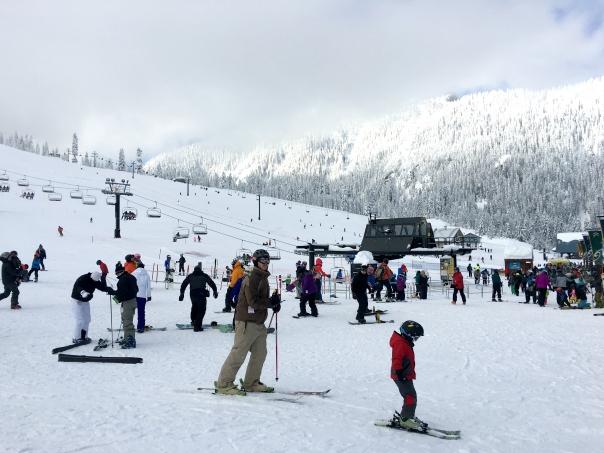Mountain Snow Skiing Snowboarding