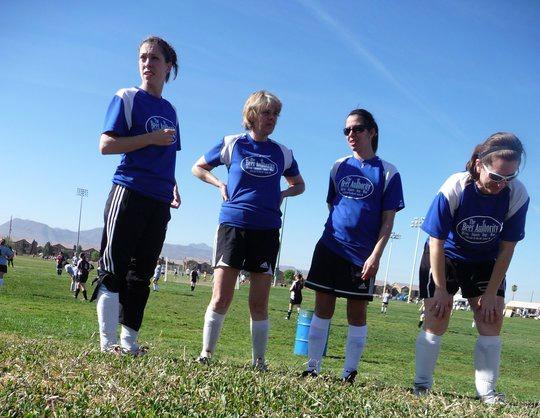 Women Group Soccer