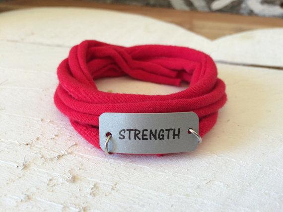Fitness Inspiration Motivation Fabric Bracelet