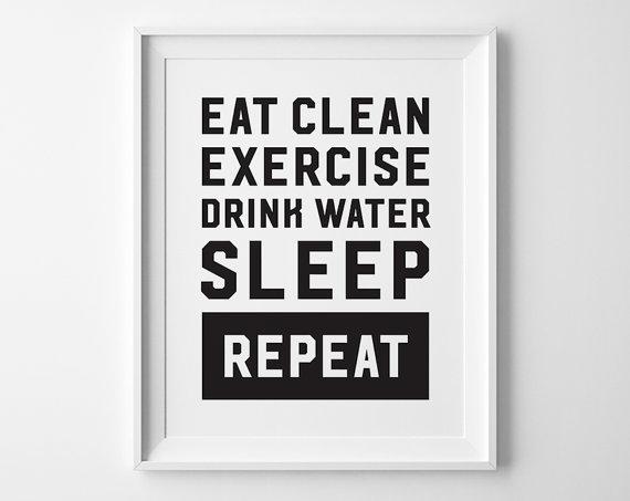 Fitness Inspiration Motivation Wall Print