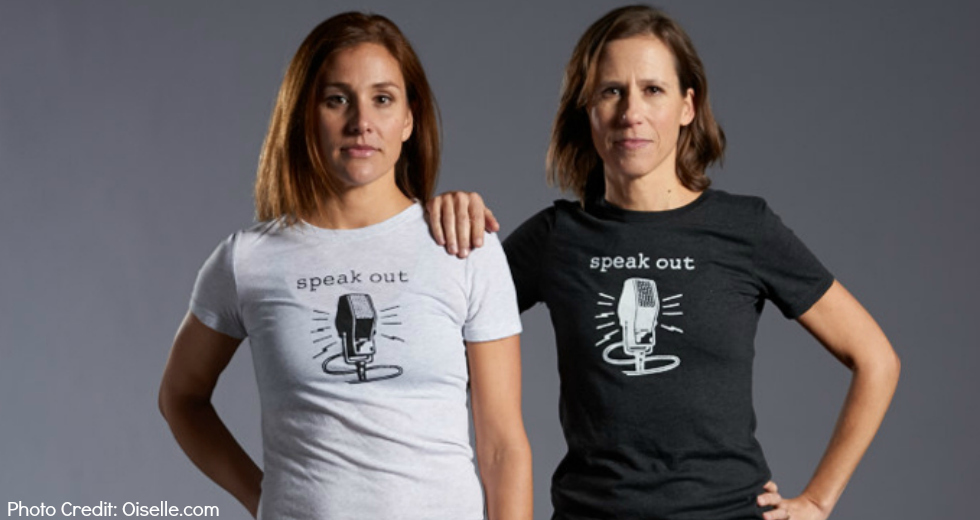 Speak Out Tee Oiselle Fitness Running Activewear